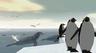 the arctic, with seals, penguins, and gulls